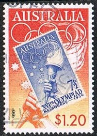 Australia SG1853 1999 Olympic Torch $1.20 good used FILLER
