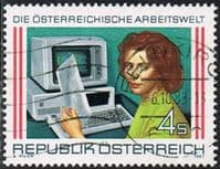 Austria SG2144 1987 World of Work (2nd issue) 4s good/fine used