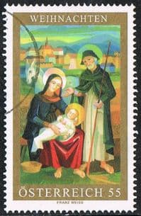 Austria SG2841 2006 Christmas (1st issue) 55c good/fine used