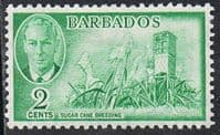 Barbados SG272 1950 Definitive 2c mounted mint