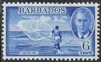 Barbados SG275 1950 Definitive 6c mounted mint