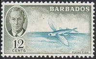 Barbados SG277 1950 Definitive 12c mounted mint