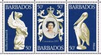 Barbados SG597-599 1978 25th Anniversary of Coronation set 3v complete unmounted mint
