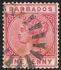 Barbados SG91 1882 Definitive 1d good/fine used