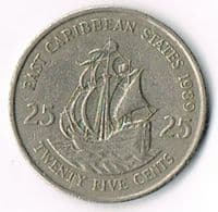 East Caribbean States 1989 25 cents
