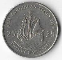 East Caribbean States 1998 25 cents