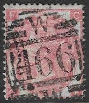 GB SG103 1867 3d plate 4 lettered FC-CF used