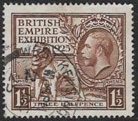 GB SG433 1925 Wembley 1½d fine used (1)