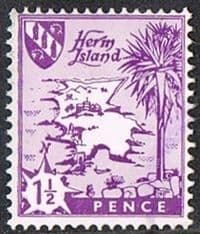 Herm Island 1968 Definitive 1½d good/fine used