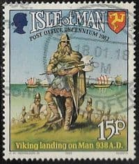 Isle of Man SG256 1983 10 Years of IOM Post Office Authority 15p good/fine used