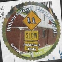New Zealand - Universal Mail Postcard Sign Circular good/fine used
