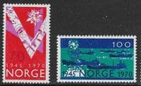 Norway SG648-649 1970 25th Anniversary of Liberation set 2v complete unmounted mint