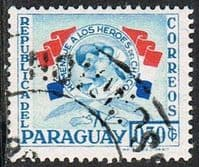 Paraguay SG792 1957 Chaco Heroes 30c good/fine used