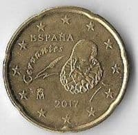 Spain 2017 20 (Euro) cents