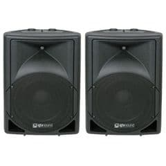 2 x QTX QS12A Powered Active PA DJ Band Speakers or Monitor 12