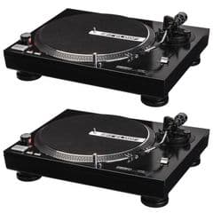 2 x Reloop RP-1000M DJ or Hi-Fi Turntable Vinyl Record Player Deck + Cartridge