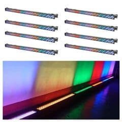 8 x 1m LED Uplighter Bar / Strip (Hire Cost per Day)