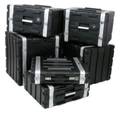 ABS 6U 19 inch Equipment Flight Case