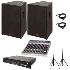 Band Mixing 14 Channel Desk & Sound Package (1000W)  (Hire Cost per Day)