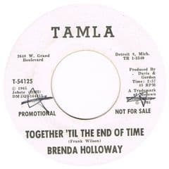 BRENDA HOLLOWAY TOGETHER TIL THE END OF TIME TAMLA WHITE DEMO