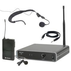 Chord NU1-N Headset + Lavalier Beltpack UHF Wireless Radio Microphone Kit 863.1