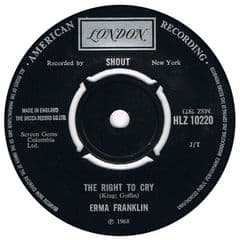 ERMA FRANKLIN THE RIGHT TO CRY Uk LONDON