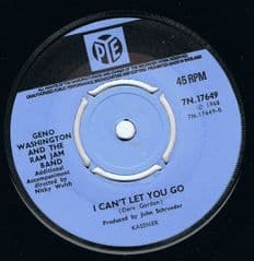 Geno Washington and the Ram Jam Band I Cant Let You Go Bring It To Me Baby Pye