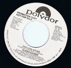 Gloria Gaynor This Love Affair Polydor White Demo