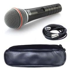 JTS TM-929 Pro Handheld Wired Dynamic Vocal Microphone + 6m XLR Mic Lead + Pouch