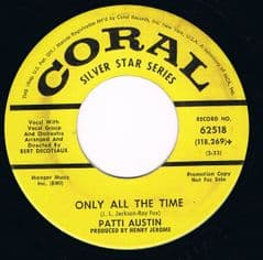 PATTI AUSTIN ONLY ALL THE TIME CORAL NEAR MINT ORIGINAL DEMO