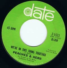 PEACHES & HERB WERE IN THIS THING TOGETHER DATE