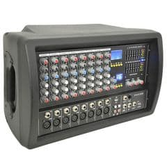 QTX PHX300 8-Channel 300W Powered PA Mixer Amplifier Amp + FX + USB Media Player