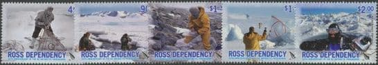 ROSS SG99-103 50th Anniversary of New Zealand Antarctic Programme set of 5