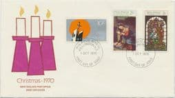 01/10/1970 New Zealand FDC Christmas 1970, illustrated - Candles