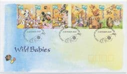 02/10/2001 Australia FDC National Stamp Collecting Month: Wild Babies