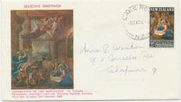 03/10/1967 New Zealand First Day Cover 2½c Christmas 1967