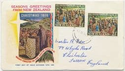 12/10/1964 New Zealand First Day Cover 2½d Christmas 1964