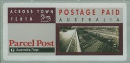 1991 $3.25 Across Town Perth parcel post label