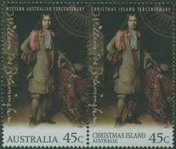 Australian Stamps SG1655a 300th Anniversary of the Visit of Willem de Vlamingh with Christmas Island pair