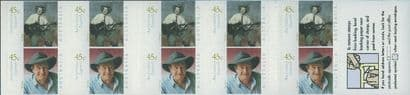 AUS SG2071a Australian Legends (5th series): Slim Dusty s-a booklet pane (SB141)