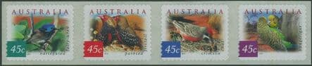 AUS SG2130-3 Fauna and Flora (4th series): Desert Birds self-ad perf 11½ strip of 4 from roll