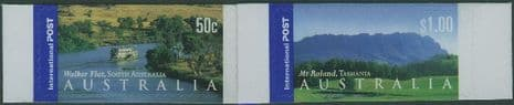 AUS SG2198-9 International Stamps: Views of Australia (3rd series) s-a set 2 from booklet (exSB152)