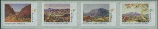 AUS SG2209a Birth Centenary of Albert Namatjira (artist) self-adhesives strip of 4 from roll