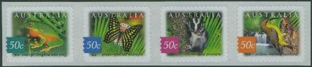 AUS SG2277-80 Fauna and Flora (6th series): Rainforest, Daintree self-adhesive SNP strip of 4
