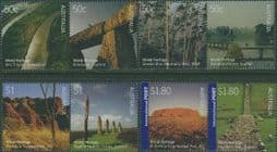 Australian Stamps SG2502-9 Joint Issue with UK, World Heritage Sites set of 8