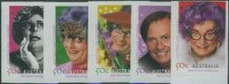 AUS SG2582-6 Australian Legends (10th series): Barry Humphries s-a set of 5 from booklet (exSB195-6)