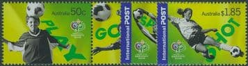 AUS SG2642a-5 World Cup, Germany: Soccer in Australia set of 4 including pair