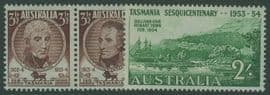 AUS SG268a-70 150th Anniversary of Settlement in Tasmania set of 3 including horizontal pair