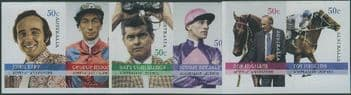 AUS SG2753-8 Australian Legends (11th series): Horse Racing s-a set of 6 from booklets (exSB223-5)