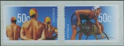 AUS SG2781a Year of Surf Lifesaving self-adhesive pair from roll
